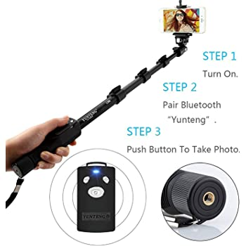 Yunteng Brobeat YT-1288 Bluetooth Remote Selfie Stick for all Mobile Phones/Cameras(Random Colour)