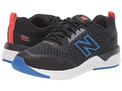 New Balance Kids 515v2 Sport (Little Kid/Big Kid) (Black/Vivid Cobalt) Kids Shoes