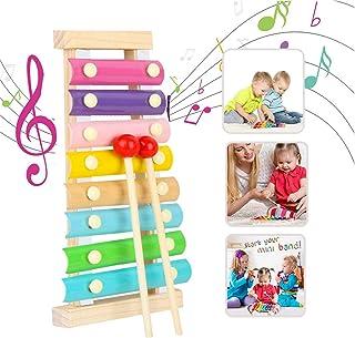 comprar comparacion Xilófono Juguetes,Musicales Xilófono de Madera,Instrumento Musical de Percusión Mejor día Cumpleaños Regalo,para Niños de ...