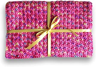 Pink Waffle-Textured Car Seat Blanket