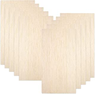 10 Pack Balsa Wood Sheets, Natural Unfinished Wood for House Aircraft Ship Boat DIY Wooden Plate Model, Craft Project 100x...