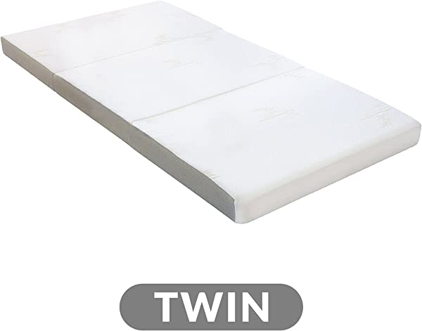 Milliard Tri Folding Mattress With Washable Cover Twin 75 Inches X 38 Inches X 4 Inches