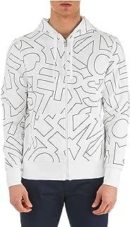 Michael Kors Mens Sweater All Over Logo Lettering Full Zip