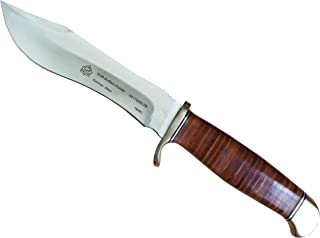 Puma SGB Buffalo Hunter Stacked Leather Hunting Knife with Leather Sheath