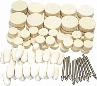 Felt Polishing Pad Clean Wheels Point Mandre for Dremel Rotary Tool Soft Felt Polishing Buffing Wheel 88Pcs