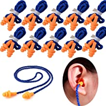 10 Pairs Soft Silicone Corded Ear Plugs Individually Wrapped Reusable Sleep Swim Noise..