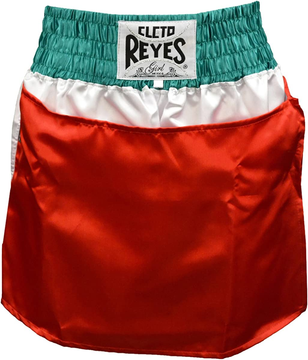 trend rank CLETO REYES 5 ☆ popular Women's Satin Boxing Trunks Mexican Skirt - Small