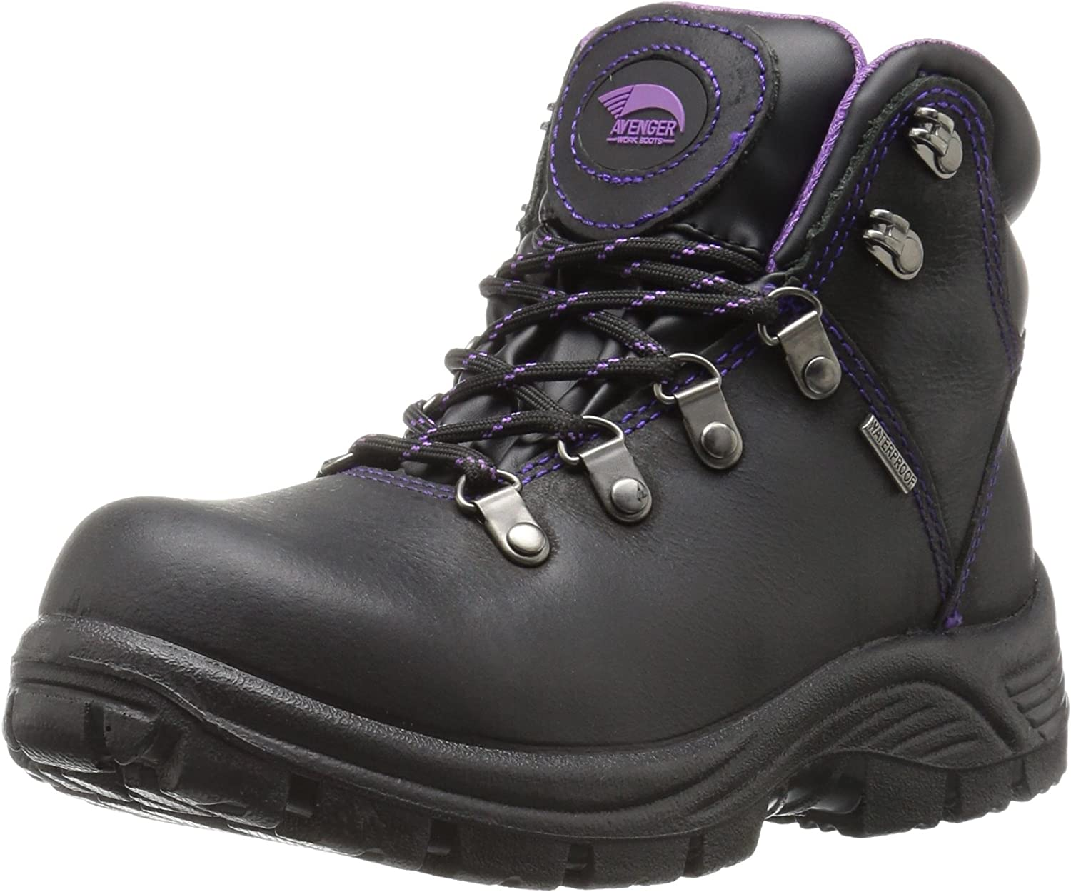 Avenger Safety Footwear Womens Avenger 7124 Womens Waterproof Safety Toe Eh Sr Hiker Industrial & Construction shoes