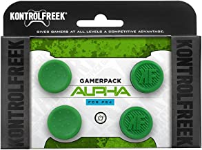 KontrolFreek GamerPack Alpha for PlayStation 4 (PS4) Controller | Performance Thumbsticks | 2 Low-Rise Concave, 2 Low-Rise | Green