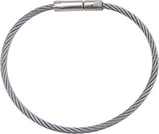 "Lucky Line 5"" Flex-O-Loc Cable Key Ring, Stainless Steel, Corrosion-Resistant,  1 per Card (73101)"