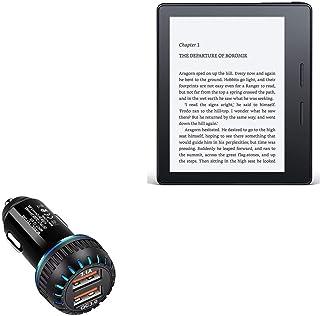 Carregador veicular Amazon Kindle Oasis (1ª geração 2016), BoxWave [Carregador duplo QC3.0] Carregador duplo para carregam...