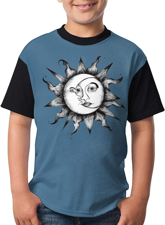 Sun Moon Luxury Stars Graphic Selling Cute Shirts Girl's Sho Fashion Children's