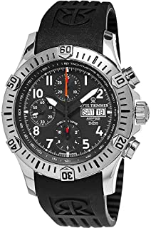 Revue Thommen Airspeed XLarge Diver - Black Dial Chronograph Day Date Revue Thommen Watch Mens - Black Rubber Band Swiss Revue Thommen Automatic Watch 16071.6834