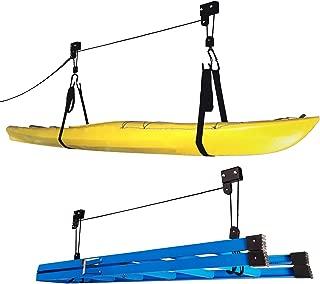 1004 Kayak Hoist Lift Garage Storage Canoe Hoists 125 lb Capacity - Two 2 Pack
