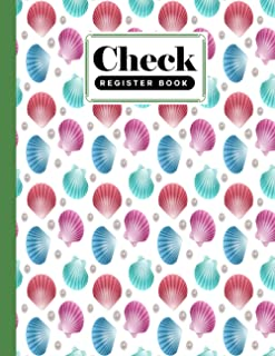 Check Register Book: shells Cover Check Register Book, A Simple Checking Account Transaction Register, 120 Pages, Size 8....
