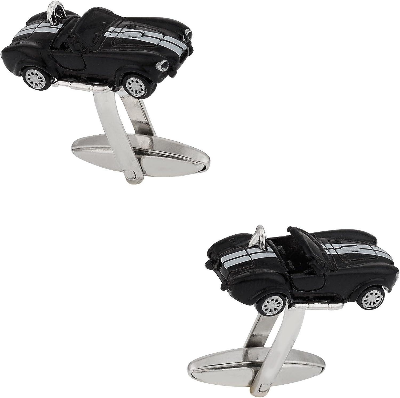 Cuff-Daddy Black Cobra New York Mall Now free shipping Race Car Suit Cufflink Automotive Classic