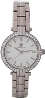 Nina Rose Luxurious and Distinctive Casual Analogue Watch for Women, Silver-White Dial