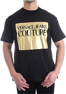 Versace Jeans Couture Men's Metallic Logo Shirt Black