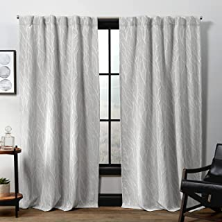 Exclusive Home Curtains Forest Hill Hidden Tab Top Curtain Panel, 52x96, Dove Grey, 2 Panels