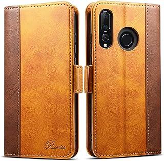 Huawei P30 lite ケース 手帳型 nova 4e ケース Rssviss ファーウェイ p30 lite カード収納 カバー 手帳 サイドマグネット スタンド機能付き 保護力抜群 高級PUレザ ー ブラウン(Huawei P30 lite&nova 4e対応)