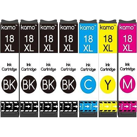 Kamo 18XL Multipack Compatibile con Epson 18 18XL Cartucce; Expression Home XP-102 XP-202 XP-205 XP-212 XP-215 XP-225 XP-30 XP-305 XP-312 XP-315 XP-322 XP-325 XP-405 XP-412 XP-415 XP-422 XP-425