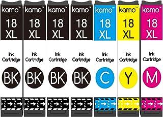 Kamo 18XL Multipack Compatibile con Epson 18 18XL Cartucce; Expression Home XP-102 XP-202 XP-205 XP-212 XP-215 XP-225 XP-3...