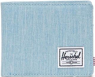 Herschel Unisex Roy RFID Bi-Fold Wallet, Denim Claro Crosshatch, Talla única, Roy RFID