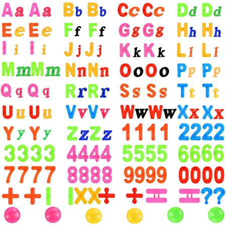 YOTINO 162 Piezas Letras y Números Magnéticos Alfabeto con Imanes de Pizarra Número de Juguetes educativos Juguetes Pegatinas de Nevera Juego