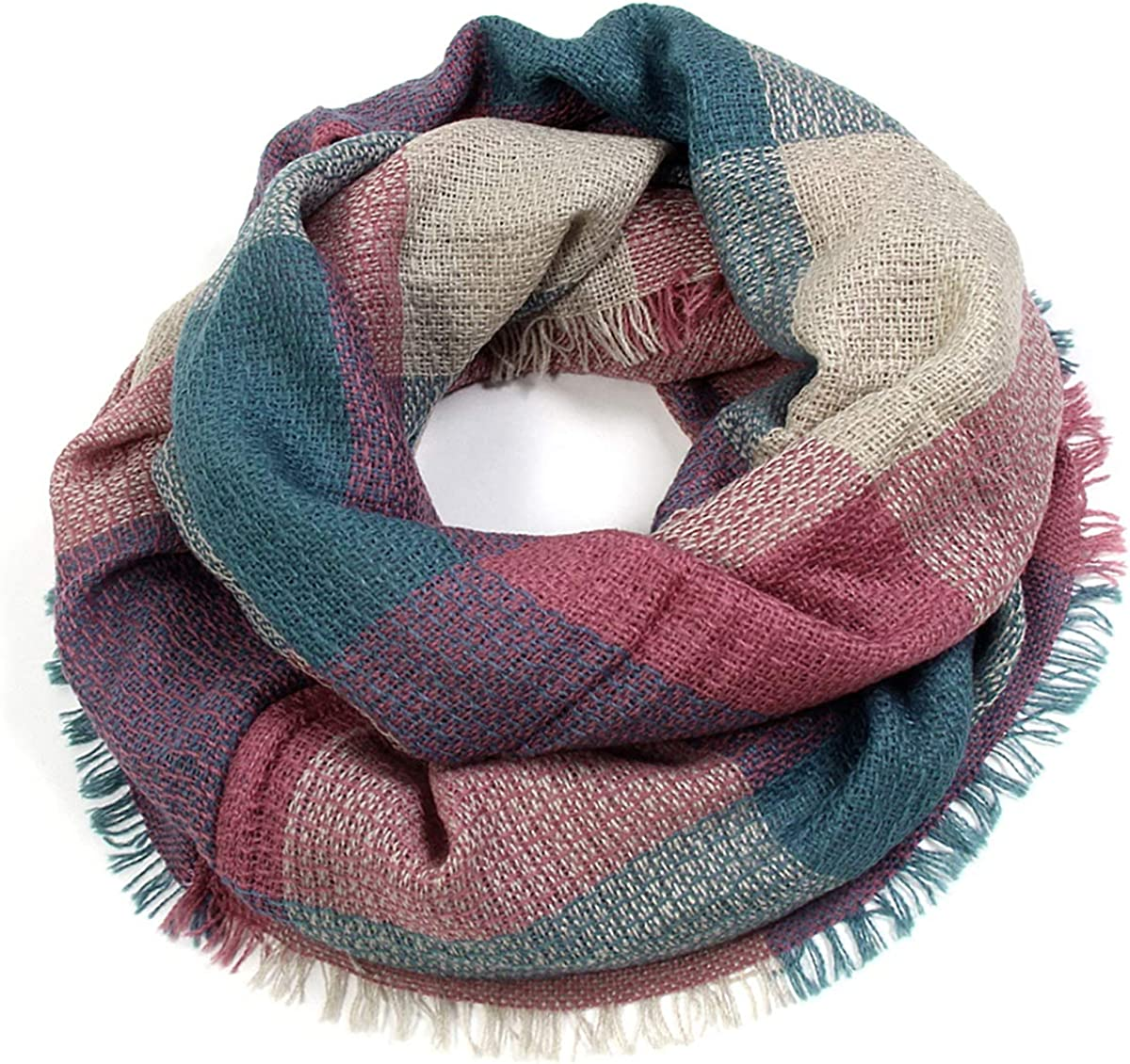 Scarfand's Plaid & Tartan Winter Infinity Scarf Wraps