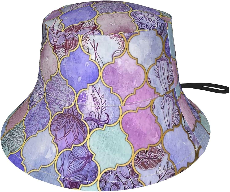 Royal Max 62% OFF Purple Mauve Indigo Decorative Bucket Excellent Moroccan Kids Hat