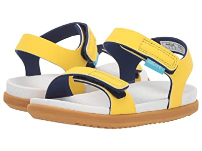Native Kids Shoes Charley (Toddler/Little Kid) (Crayon Yellow/Shell White/Toffee Brown) Kids Shoes