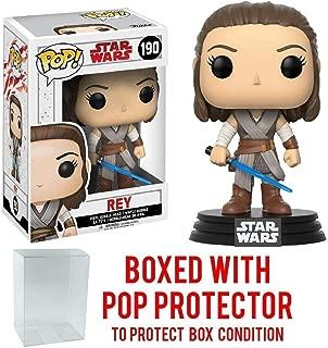 Funko Pop! Star Wars: The Last Jedi - Rey #190 Vinyl Figure (Bundled with Pop BOX PROTECTOR CASE)