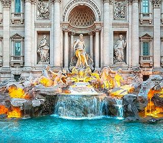 "DIY 5D Diamond Painting Numbering Kit Trevi Fountain Sunrise Rome Italy Baroque Architecture Landmark 16"" X 20"" Adult Chil..."