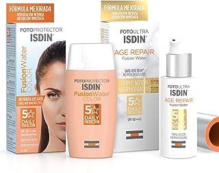 Isdin Foto Age Repair Fusion Water SPF 50 - Protector solar facial de fase acuosa 50 ml + Fusion Water COLOR SPF 50 - Pro...