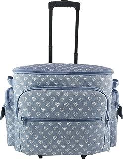Clarie CNT-362 - Bolsa con ruedas para máquina de coser, azul / blanco