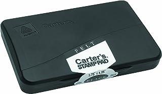 وسادة طوابع من اللباد من Avery Carter 21021، 4 1/4 × 2 3/4، أسود غير مصقول