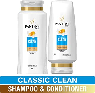 Sponsored Ad - Pantene, Shampoo and Sulfate Free Conditioner Kit, Pro-V Classic Clean, 49.4 fl oz