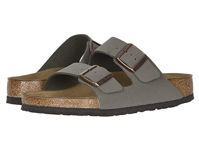 Birkenstock  Arizona - Birkibuctm (Unisex) (Stone Birkibuc) Sandals