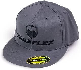 Teraflex 5237022 Hat, Premium Flexfit Flat Visor Dark Gray-Small/Medium