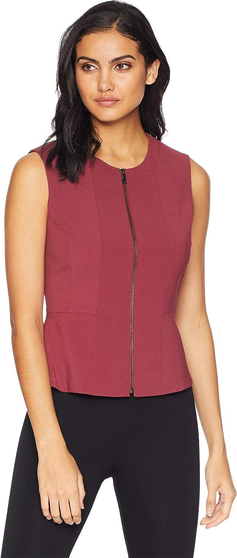 BCBGMAXAZRIA Womens Jeslyn Sleeveless Top Zipper Front