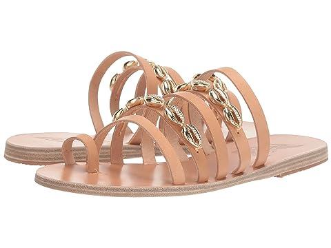 Ancient Greek Sandals Niki Gold Shells