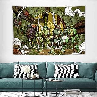 HoMdEfW Home Living Tapestry Teenage Mutant Ninja Turtles Blanket Wall Art Tapestry W39 X L39 Inch