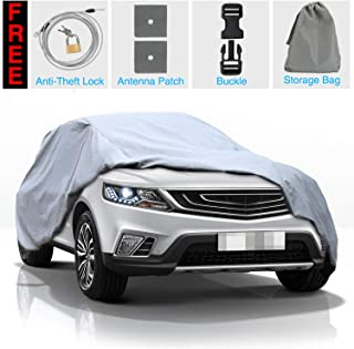 KAKIT SUV Car Cover Waterproof All Weather SUV 5 Layers Cover Windproof Breathable UV Protection Durable for Outdoor Indoor, Fits up to SUV 180