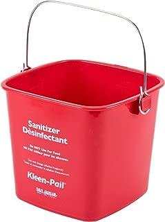 San Jamar KP97RD Kleen-Pail Bucket, 3 qt, Red (Case of 12)