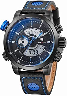 Weide Sport Watch For Men Analog-Digital Genuine Leather - WH3401B-8C