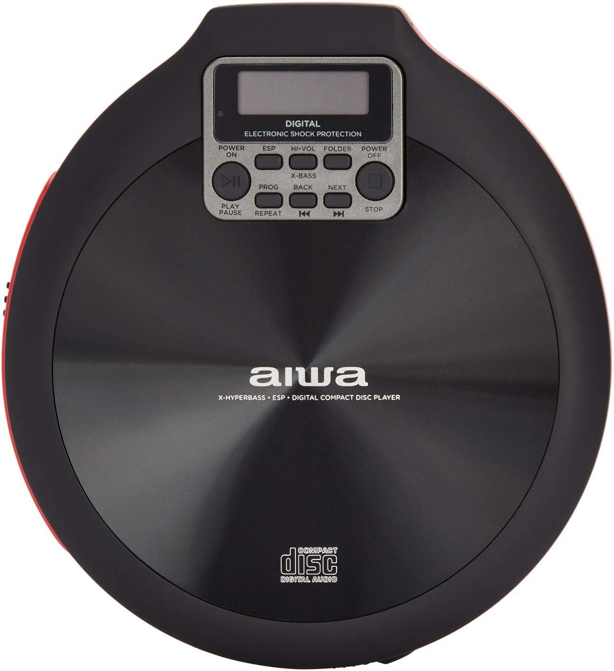 Reproductor de CD AIWA PCD-810RD Color Rojo y Negro