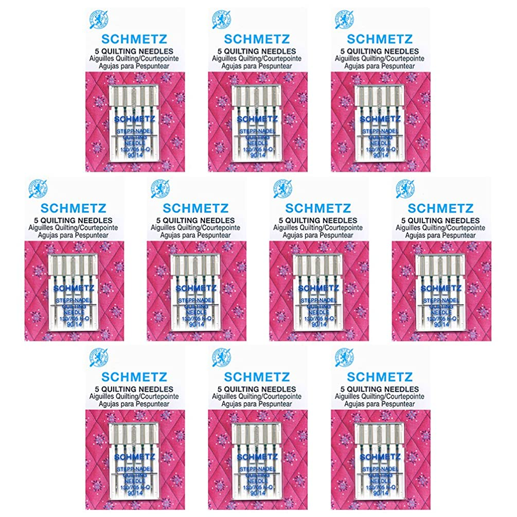 50 Schmetz?Quilting Sewing Machine Needles - size 90/14 - Box of 10 cards