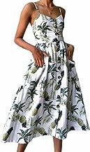 Lovely-Shop Sexy Print Summer Dress Women Boho Casual Midi Dress Robe Beach Floral Long Sunflower Dresses