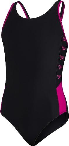 Speedo Girls' Boom Allover Splashback Swimsuit
