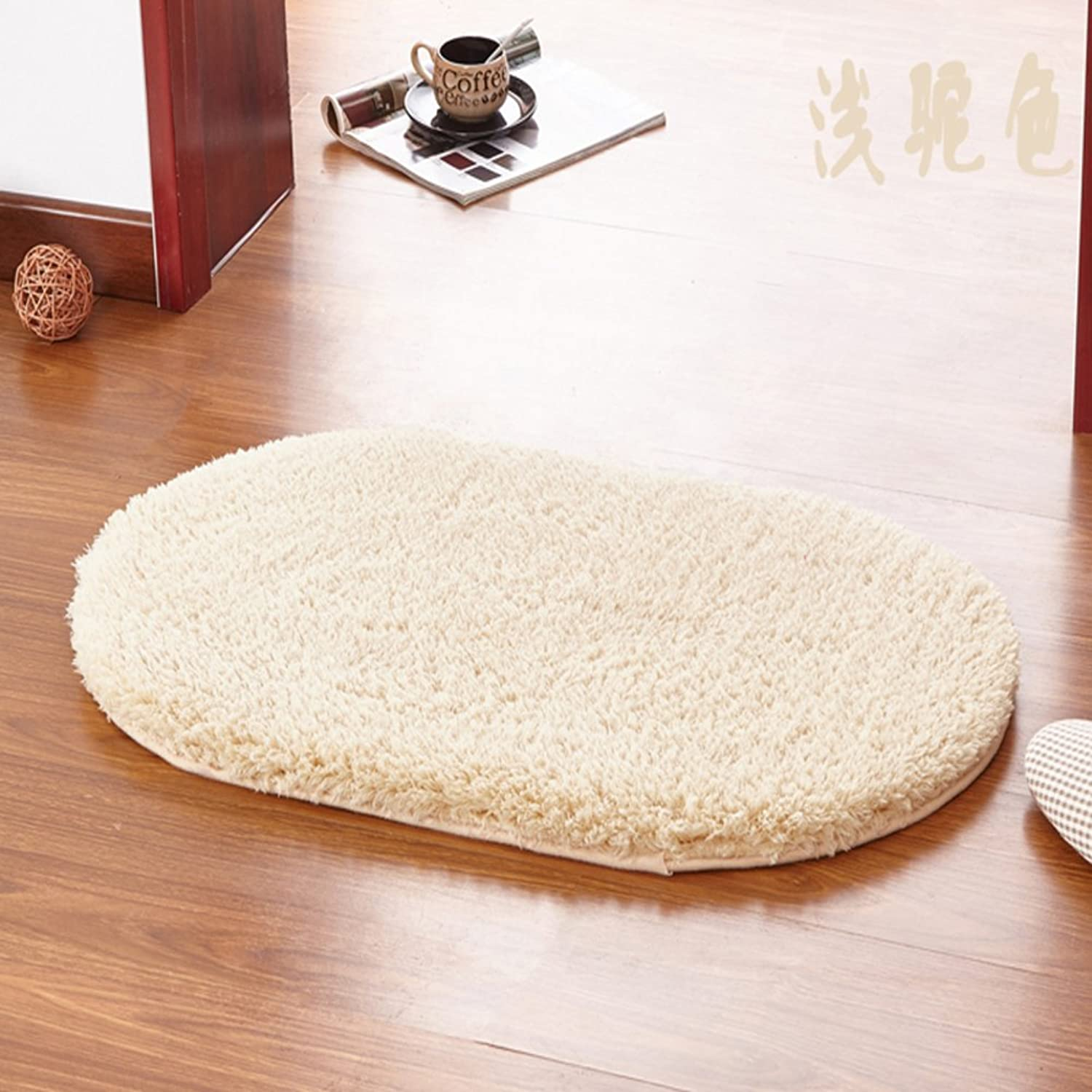 Enter the door mat carpet bedroom living room absorbent foot pad bathroom kitchen bathroom non-slip mat-F 100x160cm(39x63inch)